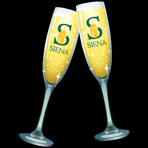 siena saints online champagne toast 2018
